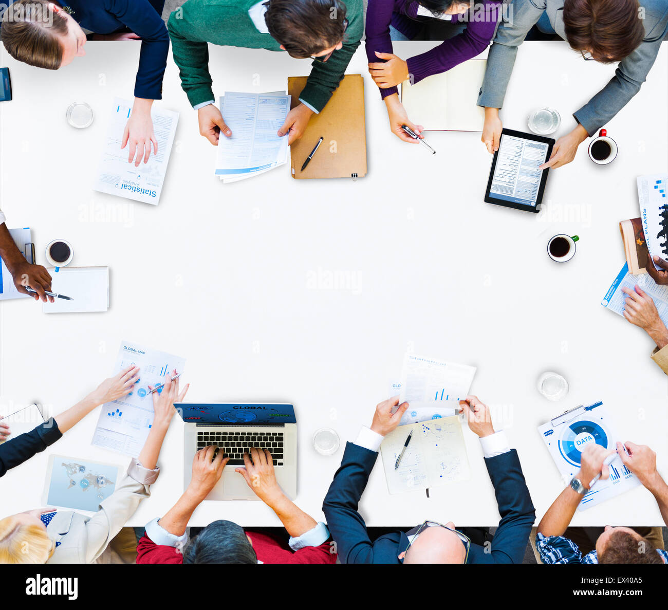 business people meeting corporate discussion concept - Stock Image