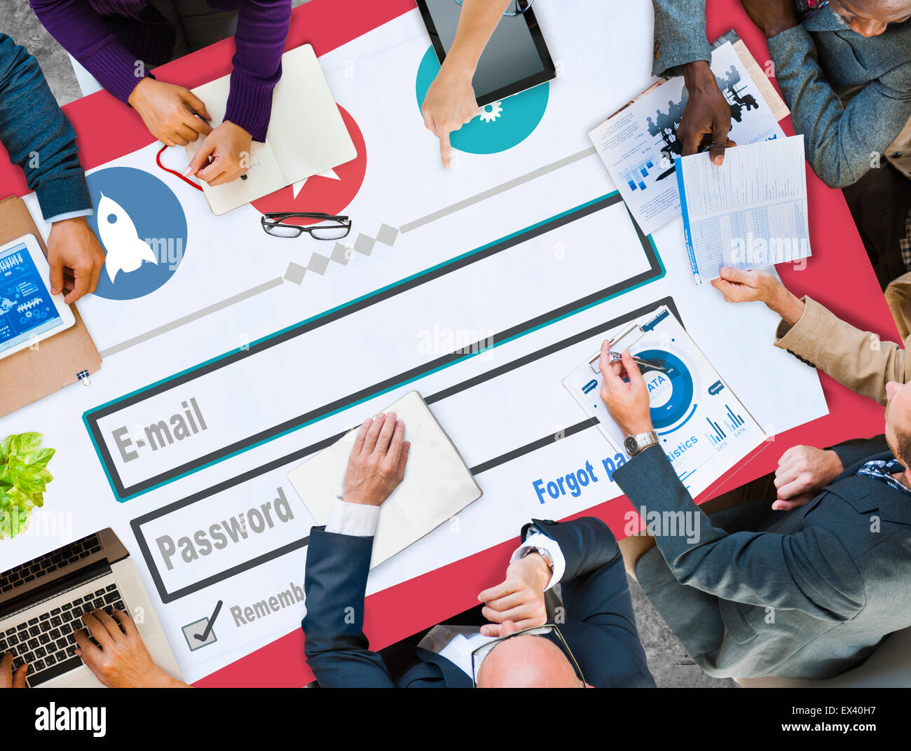 E-mail Identity Password Membership Sing In Web Page Concept - Stock Image