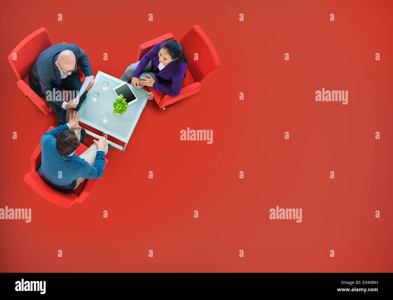 Business Team Discussion Meeting Planning Concept - Stock Image