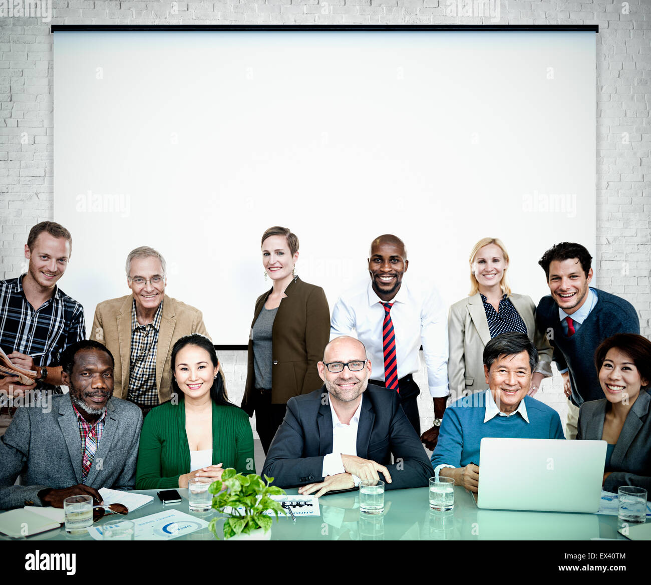 Business People Casual cooperation Cheerful Concept - Stock Image