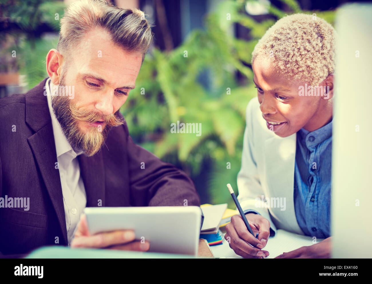 Manager Secretary Collaboration Meeting Discussion Concept - Stock Image