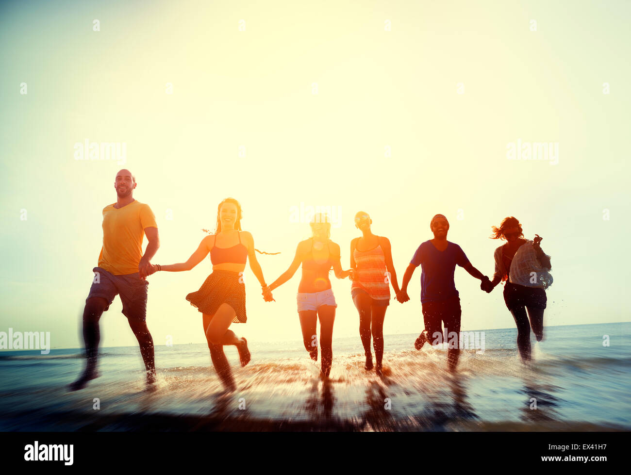 Friendship Freedom Beach Summer Holiday Concept - Stock Image