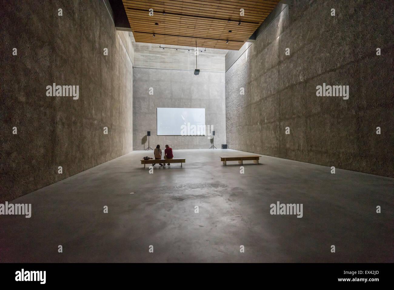 Johann Kšnig gallery inside St Agnes church art space and community centre in Kreuzberg  Berlin Germany - Stock Image