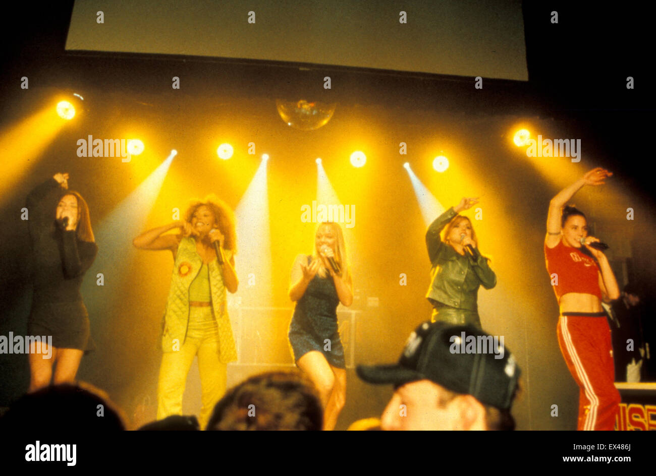 SPICE GIRLS UK pop group at the Billboard Live show in Los Angeles in January 1997 - Stock Image