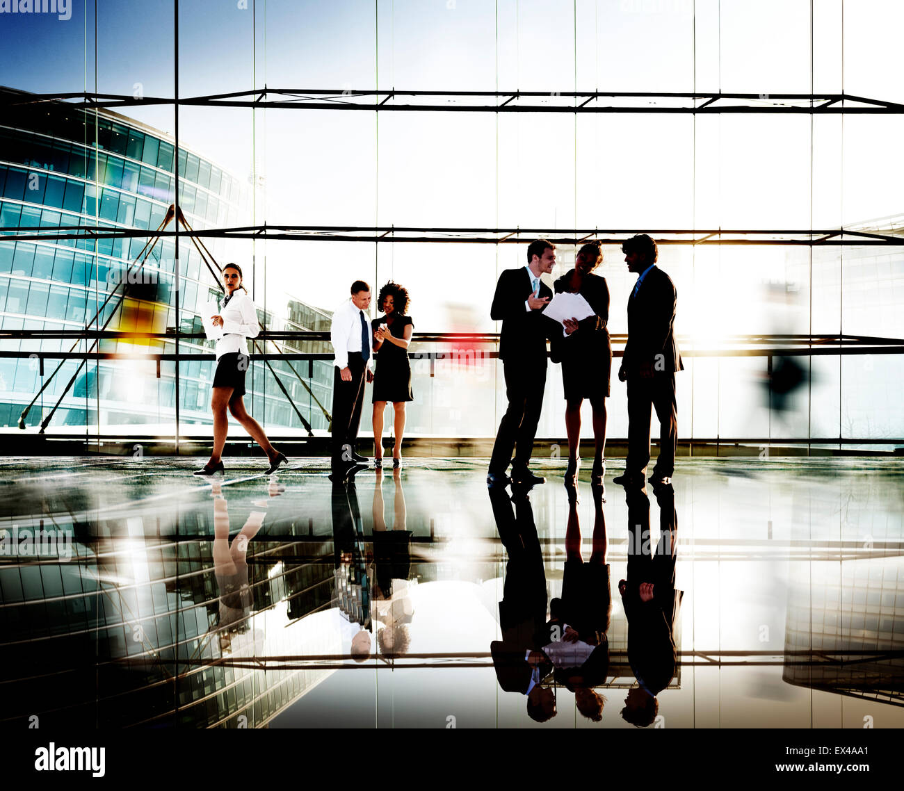 Business People Corporate Connection Discussion Meeting Concept - Stock Image