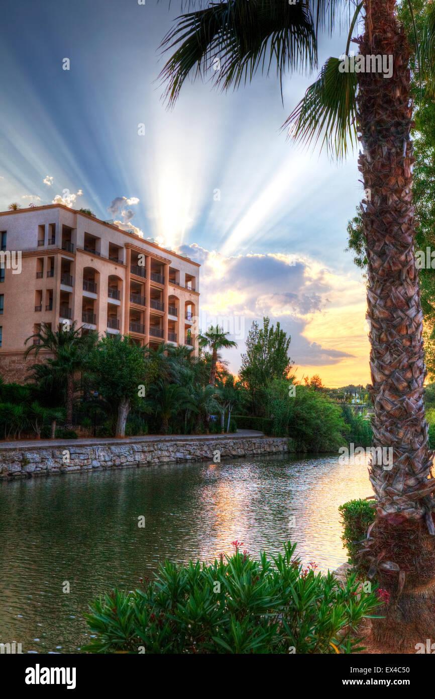 Spa hotel Insotel Fenicia Prestige Thalasso Spa Santa Eularia des Riu Ibiza Spain Spanish hotels - Stock Image