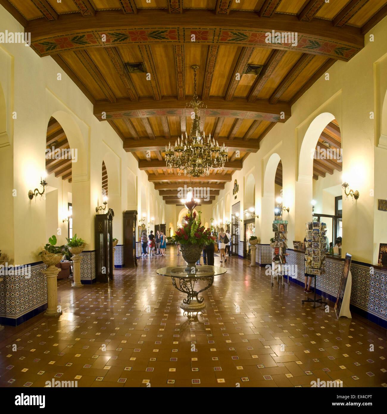 Square Interior View Of Hotel Nacional De Cuba In Havana Stock Photo Alamy