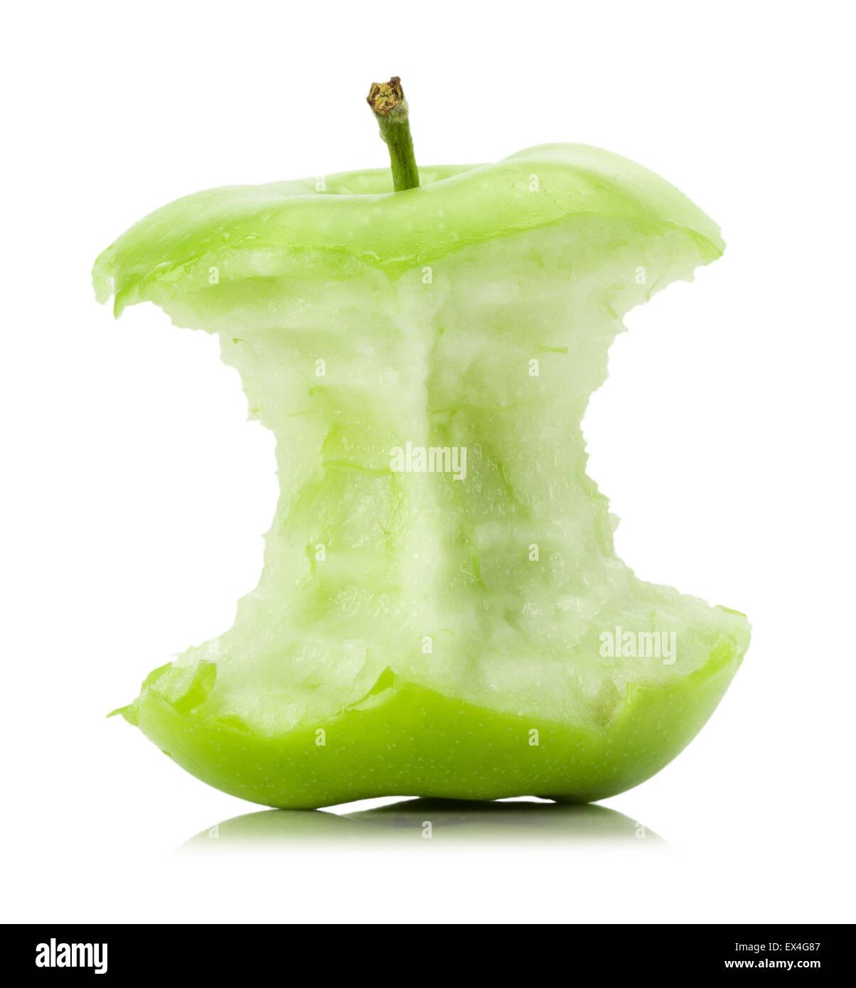 apple stub isolated on the white background. - Stock Image