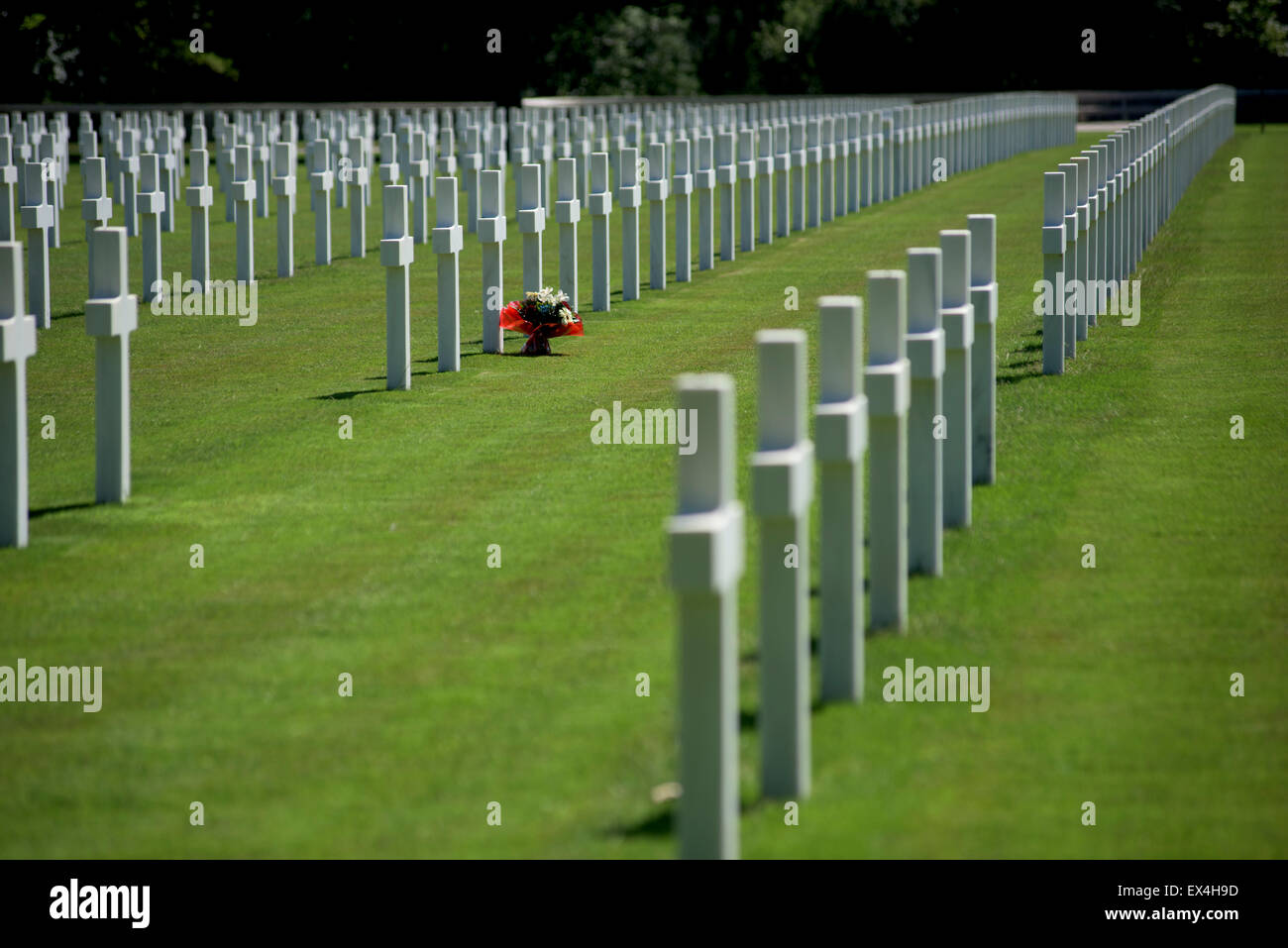 Epinal American Cemetery and Memorial, Dinoze, Vosges, France. June 2015 - Stock Image