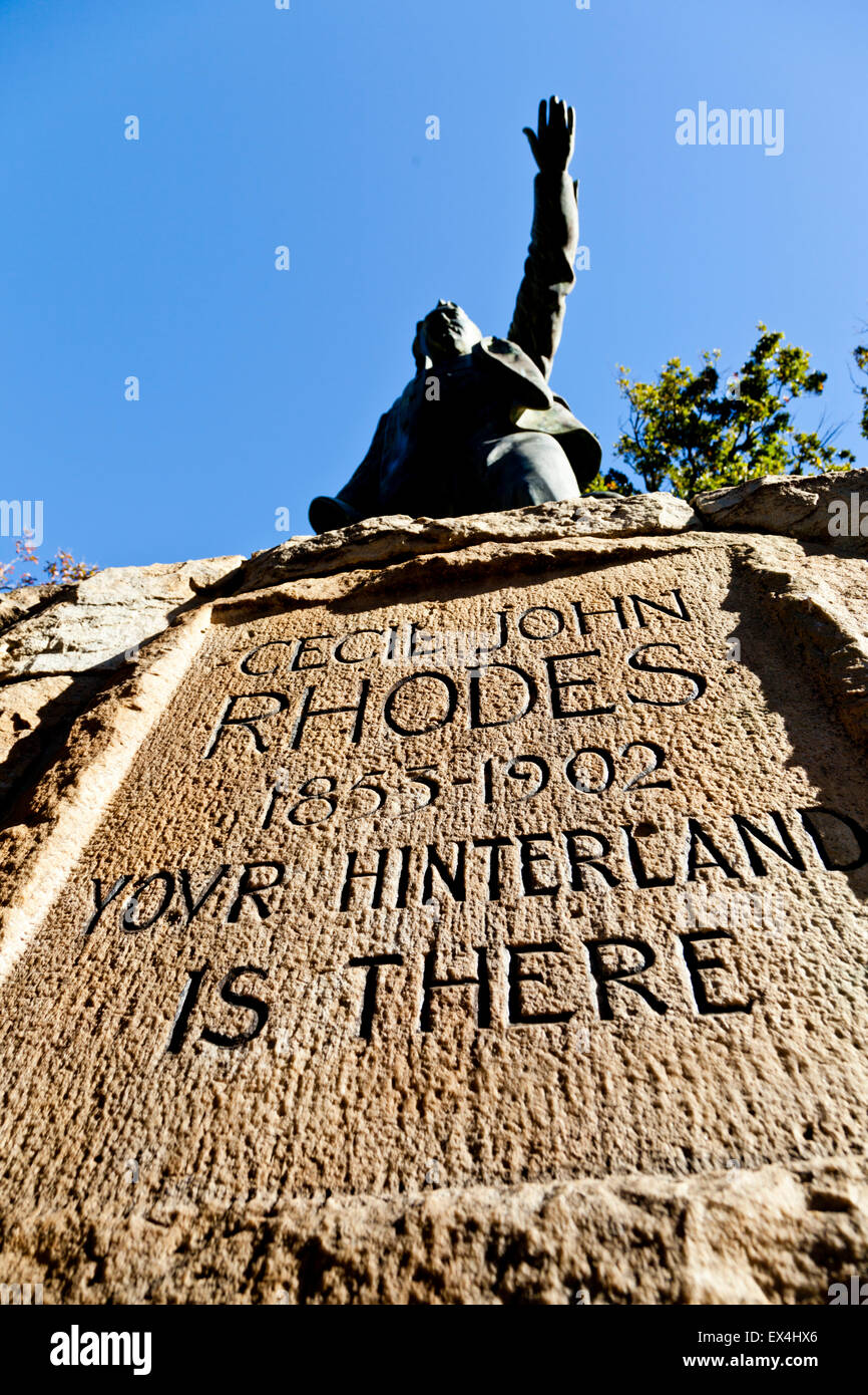 Cecil Rhodes statue in the Company's Garden, Cape Town, Western Cape, South Africa - Stock Image