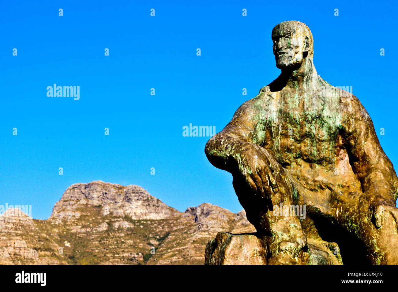 Jan Smuts statue in the Company's Garden, Cape Town, Western Cape, South Africa - Stock Image