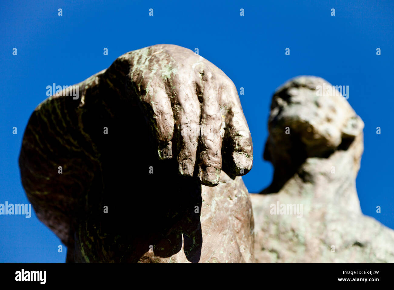 Jan Smuts statue in the Company's Garden, Cape Town, Western Cape, South Africa Stock Photo