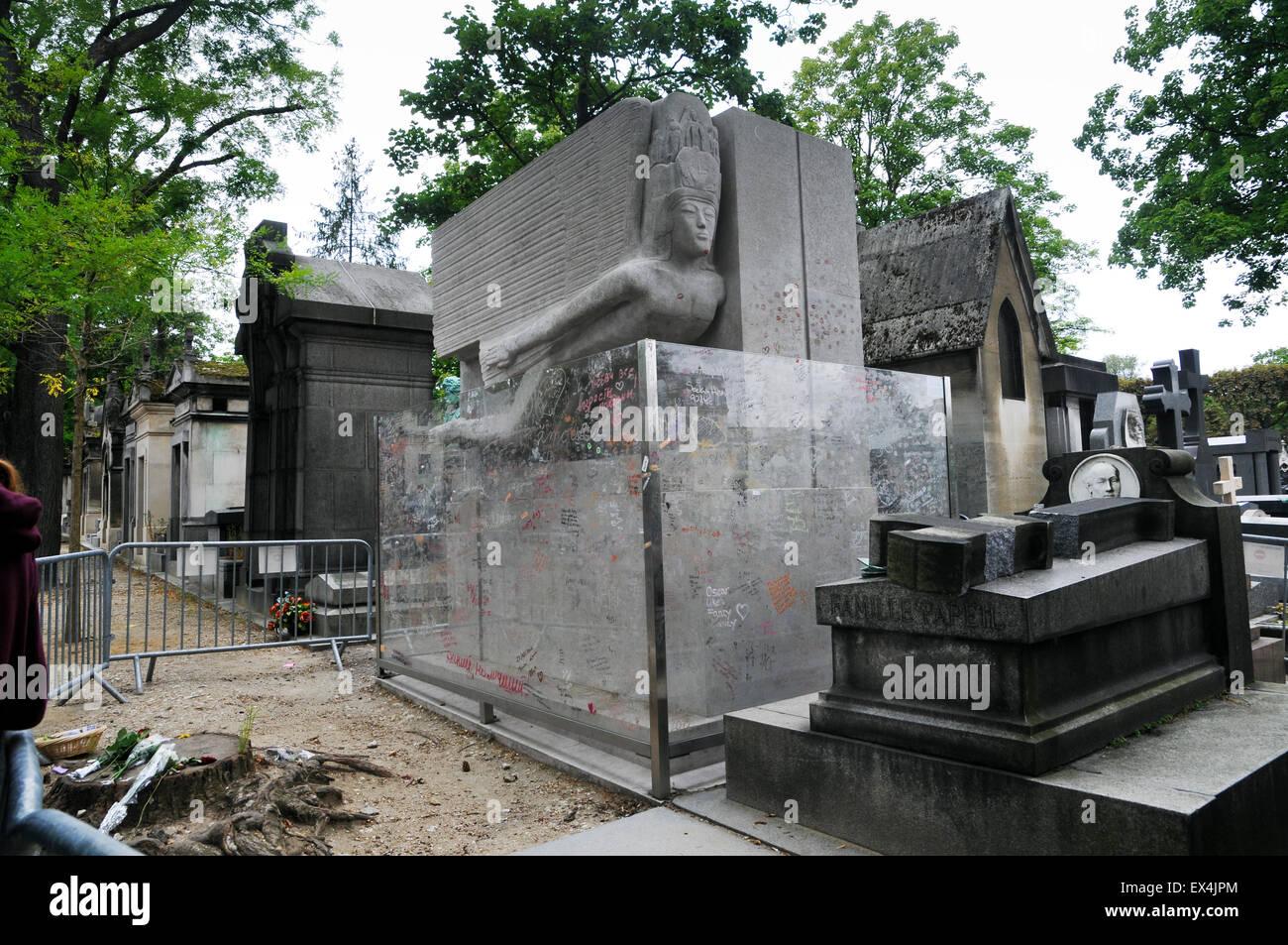 Cemetery  Pere Lachaise Paris Ile de France Europe - Stock Image