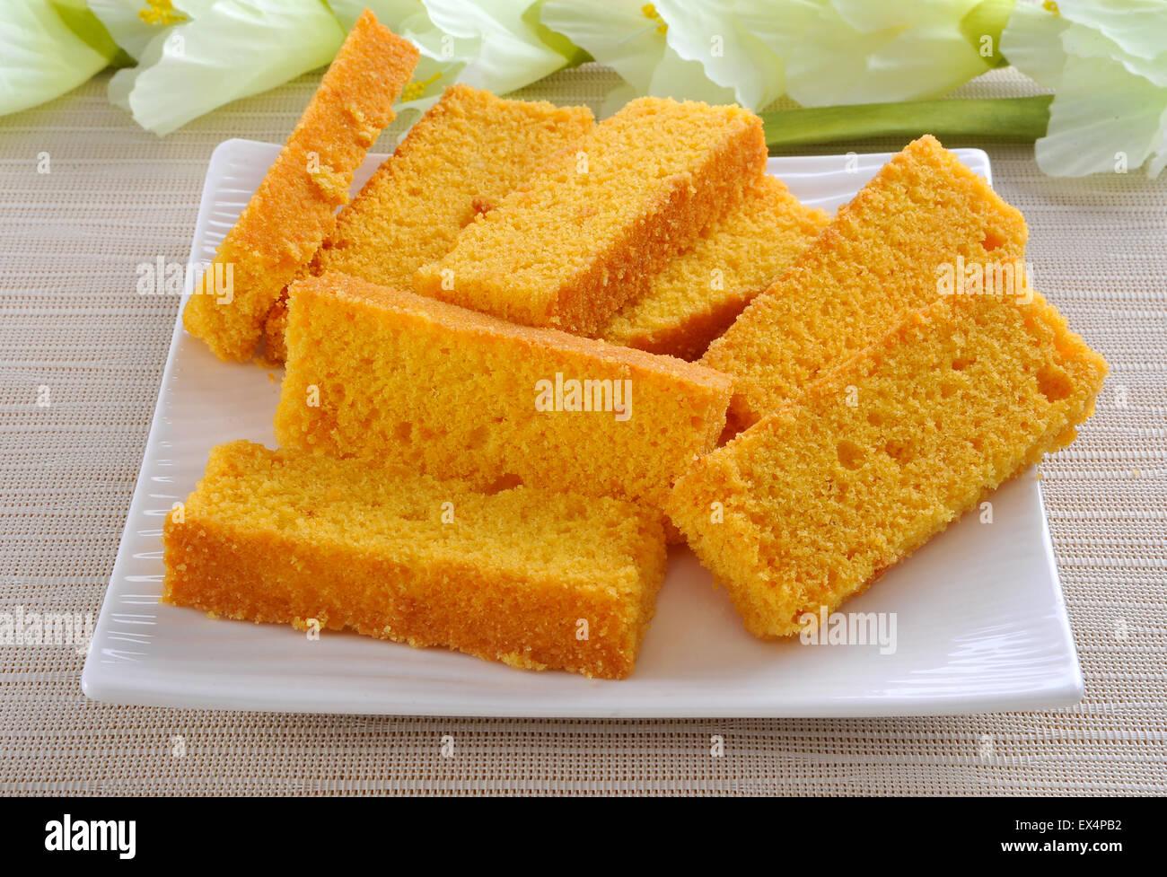 Cake Rusk Stock Photo
