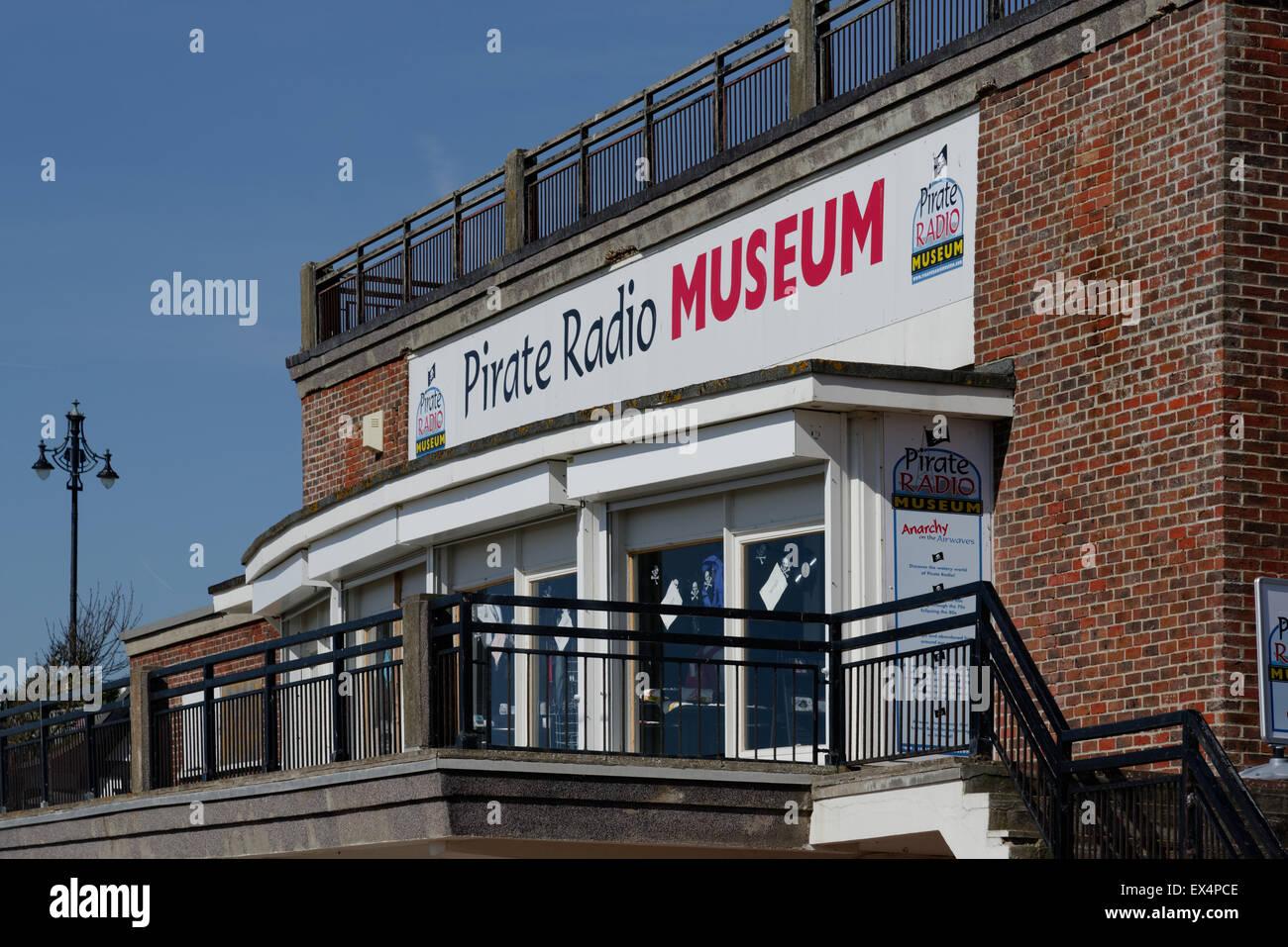 Pirate Radio museum Clacton-on-Sea, Essex - Stock Image