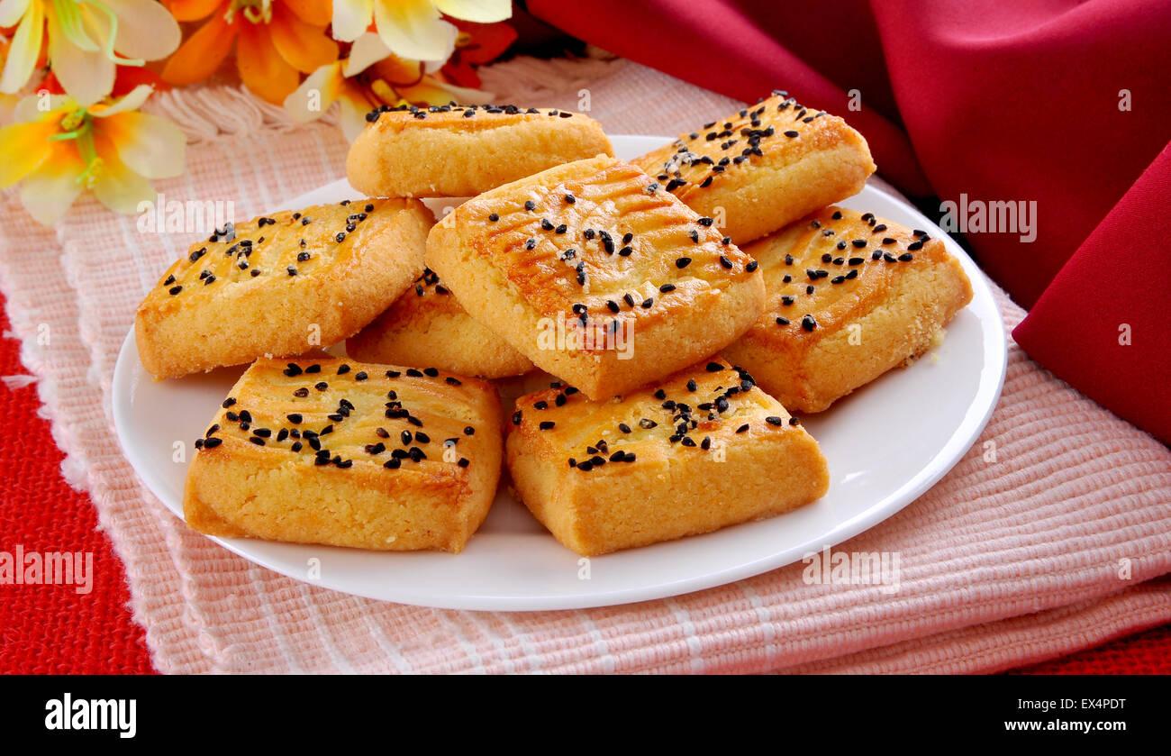 Nigella Cookies Stock Photo