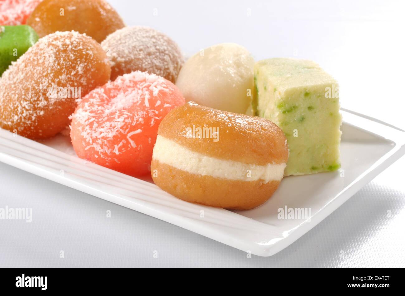 Delicious Mix Mithai - Stock Image