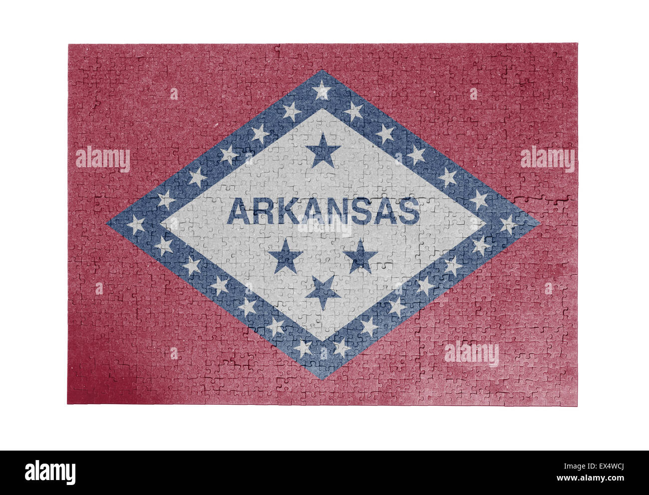 Large jigsaw puzzle of 1000 pieces - flag - Arkansas Stock Photo