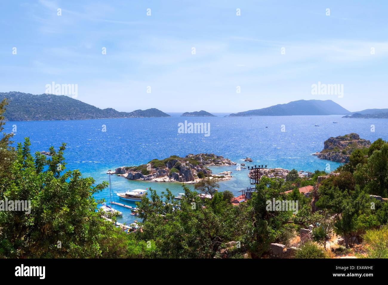 Kekova archipelago, Antalya, Turkey - Stock Image