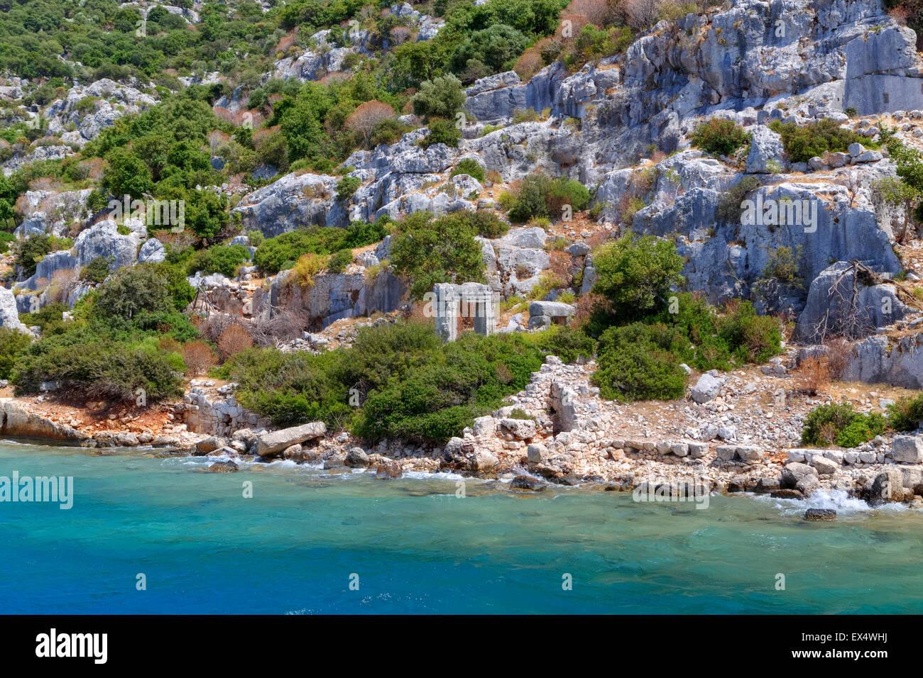 Kekova, sunken city, Antalya, Turkey - Stock Image