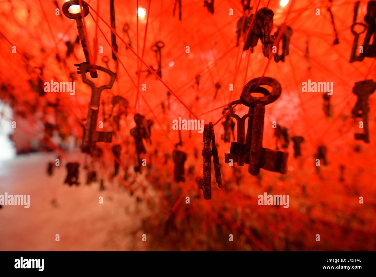 The 56th International Art Exhibition titled 'All the World's Futures' at the Giardini  Featuring: Atmosphere - Stock Image