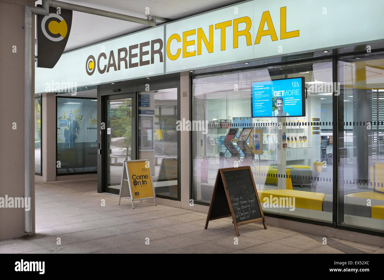 career central office, uea, norwich, norfolk, england Stock Photo
