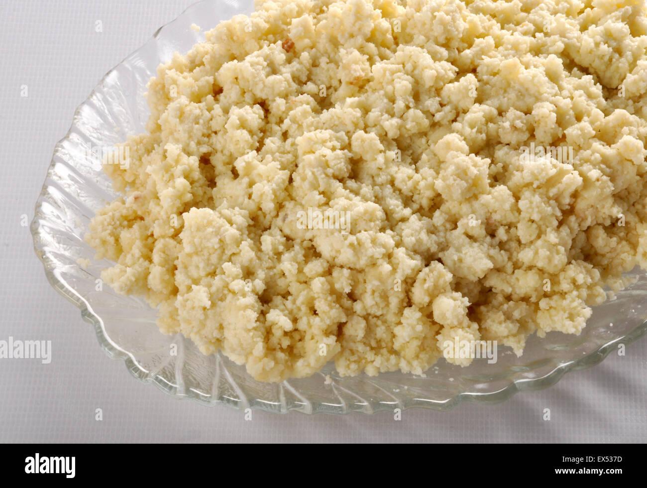 Khoya Milk Solid - Stock Image