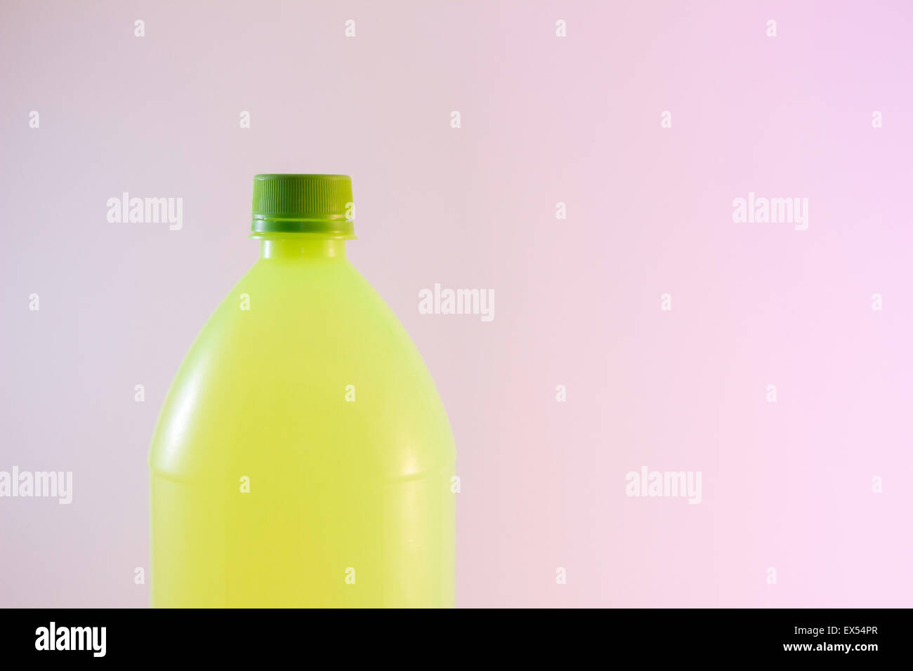 plastic bottle waste container transparent recycle - Stock Image