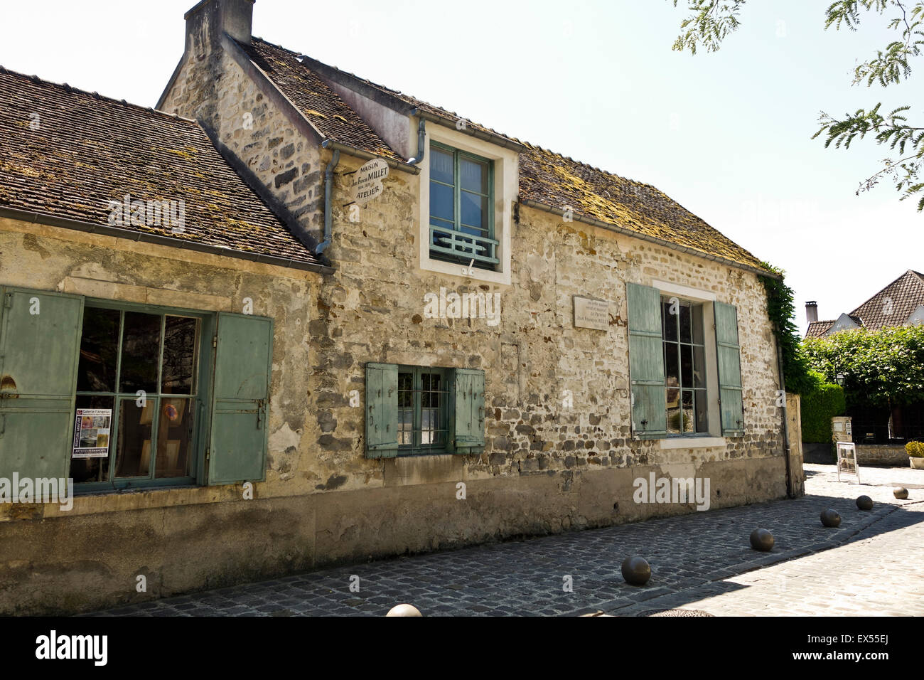 Studio and house of French painter Jean-François Millet, Barbizon, Seine-et-Marne, France. - Stock Image