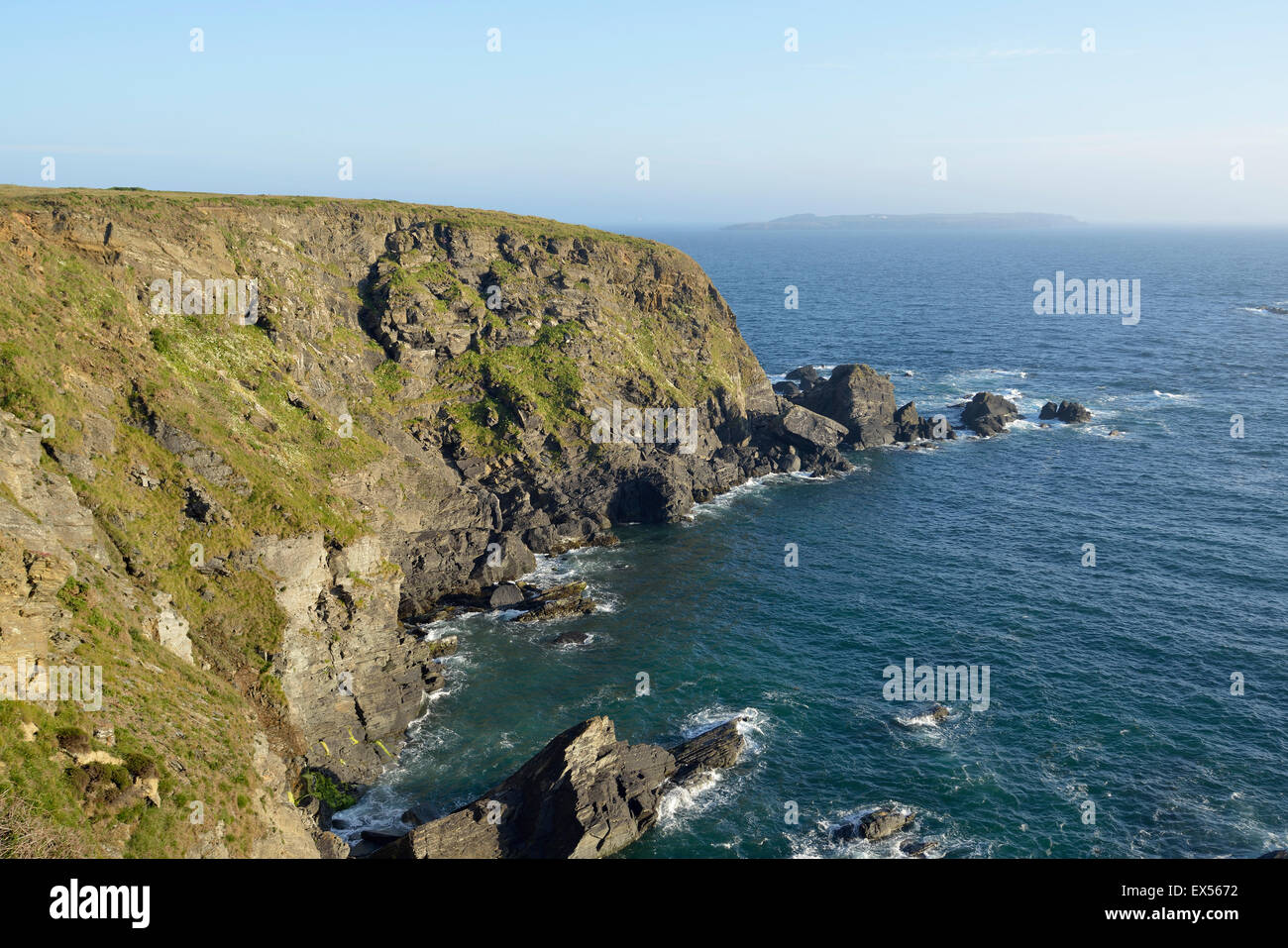 Pitting Gales Point, near Marloes, Pembrokeshire, Wales - Stock Image
