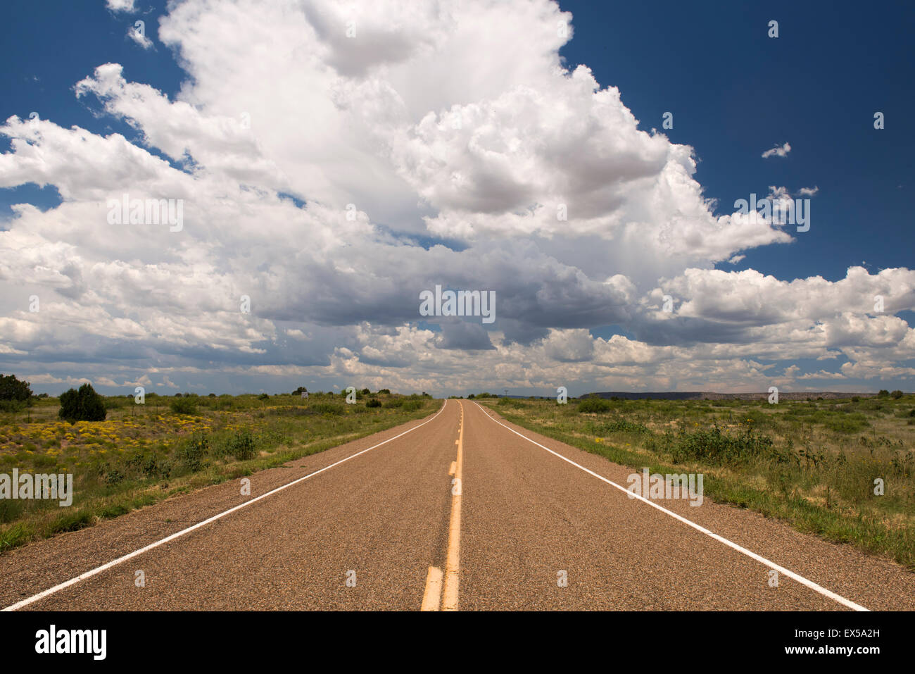 Route 102 in New Mexico - Stock Image