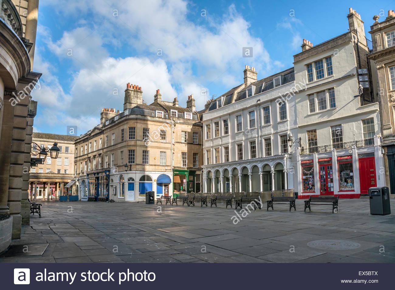 Abbey Churchyard in the historic city center of Bath, Somerset, England   Abbey Church Yard im Stadtzentrum von - Stock Image