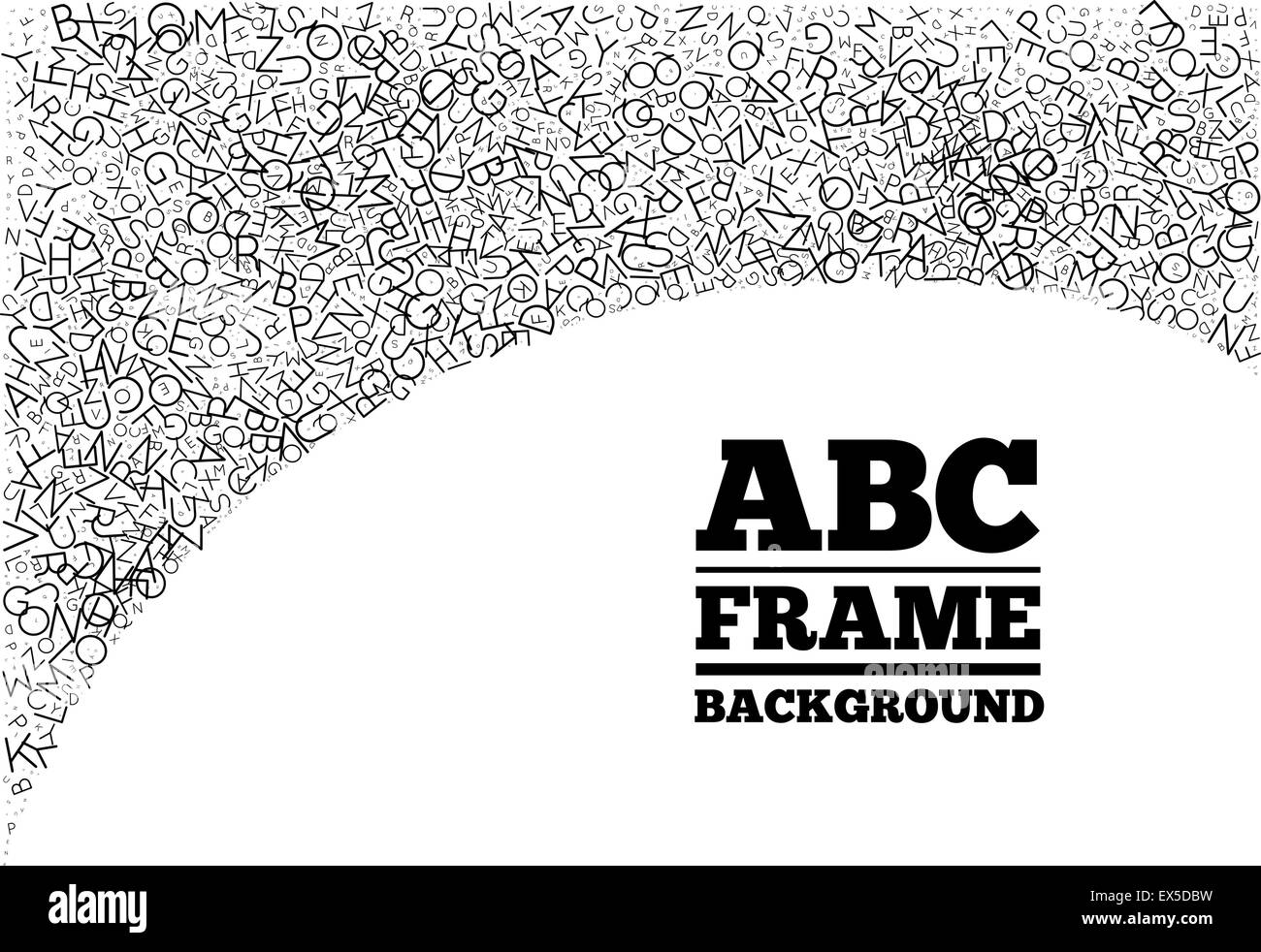 Frame created from the letters of different sizes Stock Vector Art ...
