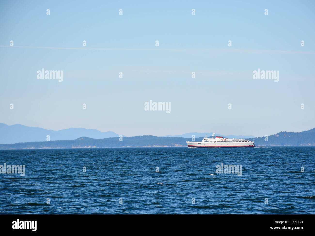 Washington State Ferry between Seattle and Victoria, B.C. - Stock Image