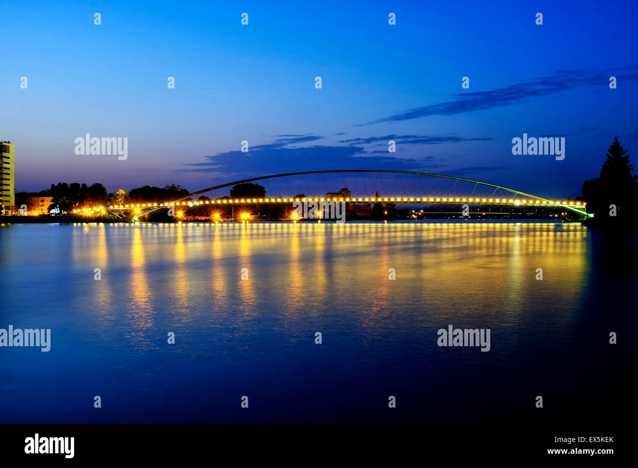 Three Countries Bridge, Basel, Switzerland - Stock Image