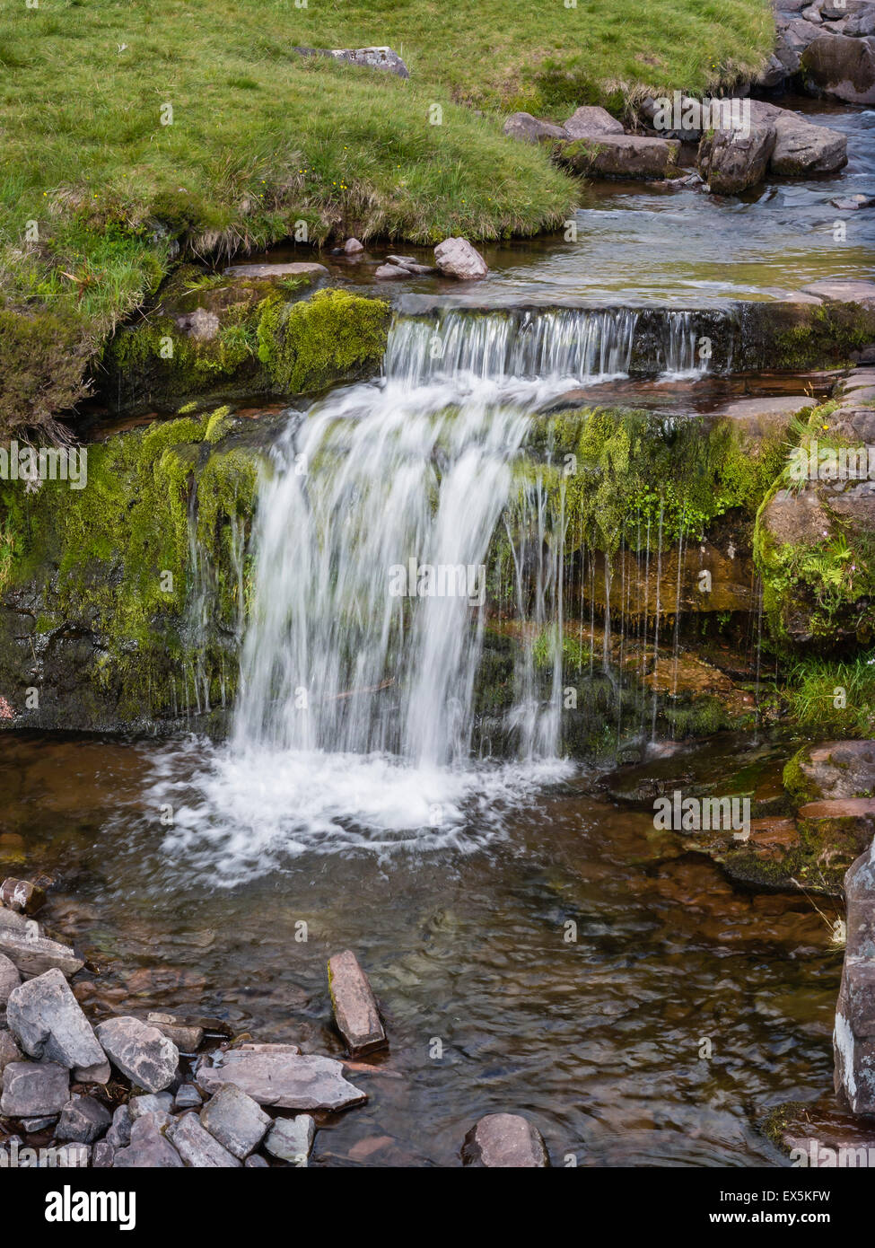 Waterfall at Pont ar DAF in The Brecon Beacons, Powys, South Wakes, UK - Stock Image