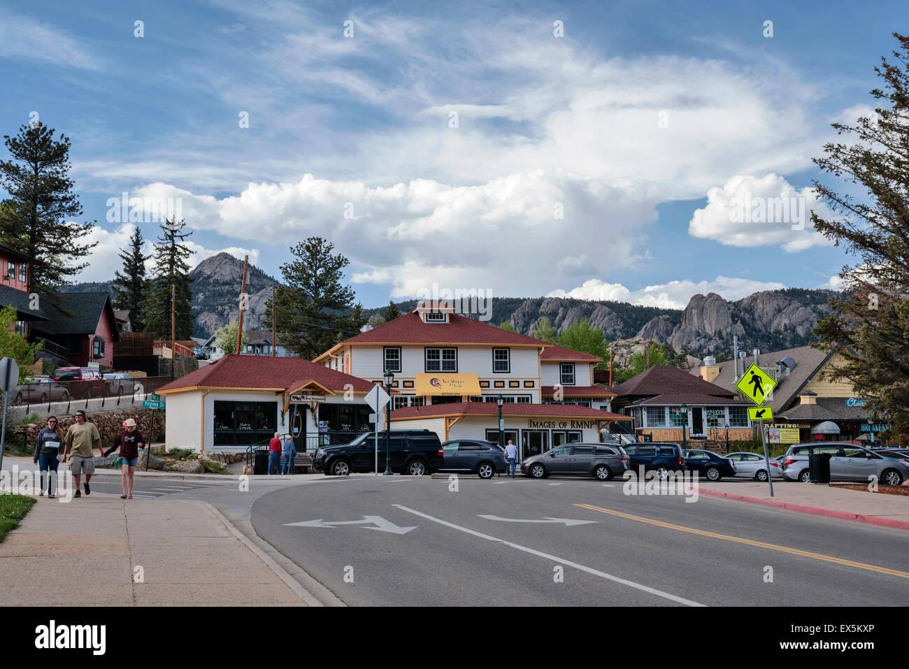 The Town of Estes Park, Colorado, USA, North America , United States - Stock Image
