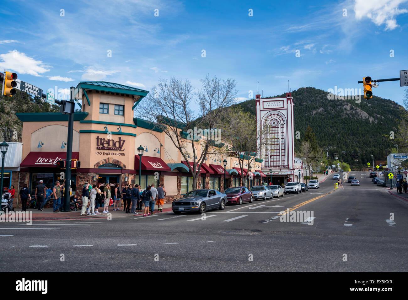 Center of Estes Park, Colorado, USA, North America , United States, Colorado, USA, North America , United States - Stock Image