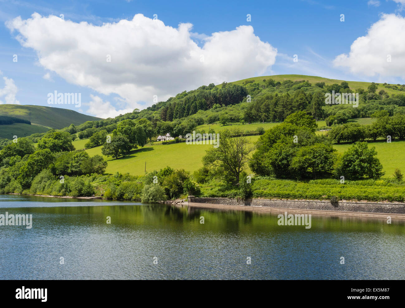 Talybont Reservoir, Brecon Beacons National Park, Powys, Wales, UK - Stock Image