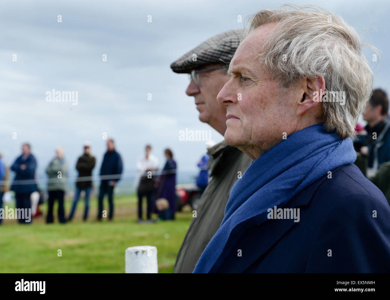 The 9th Duke of Wellington with Lord Ashcroft at the 200th anniversary of Waterloo at Penielheugh in the Scottish - Stock Image
