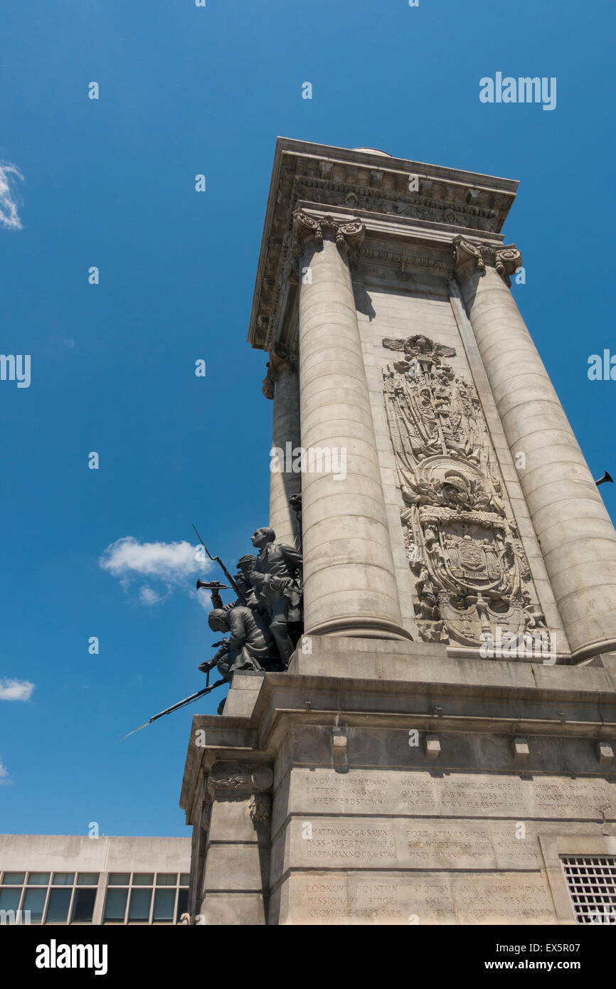 Soldiers and Sailors monument in Syracuse NY - Stock Image