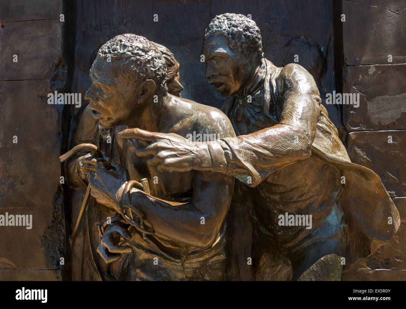 Jerry rescue monument in Syracuse NY - Stock Image