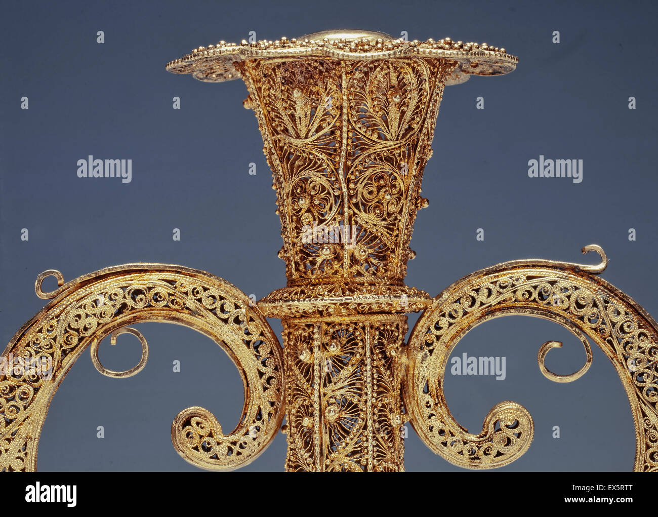 little masterpiece of art in golden or silver filigree - Stock Image