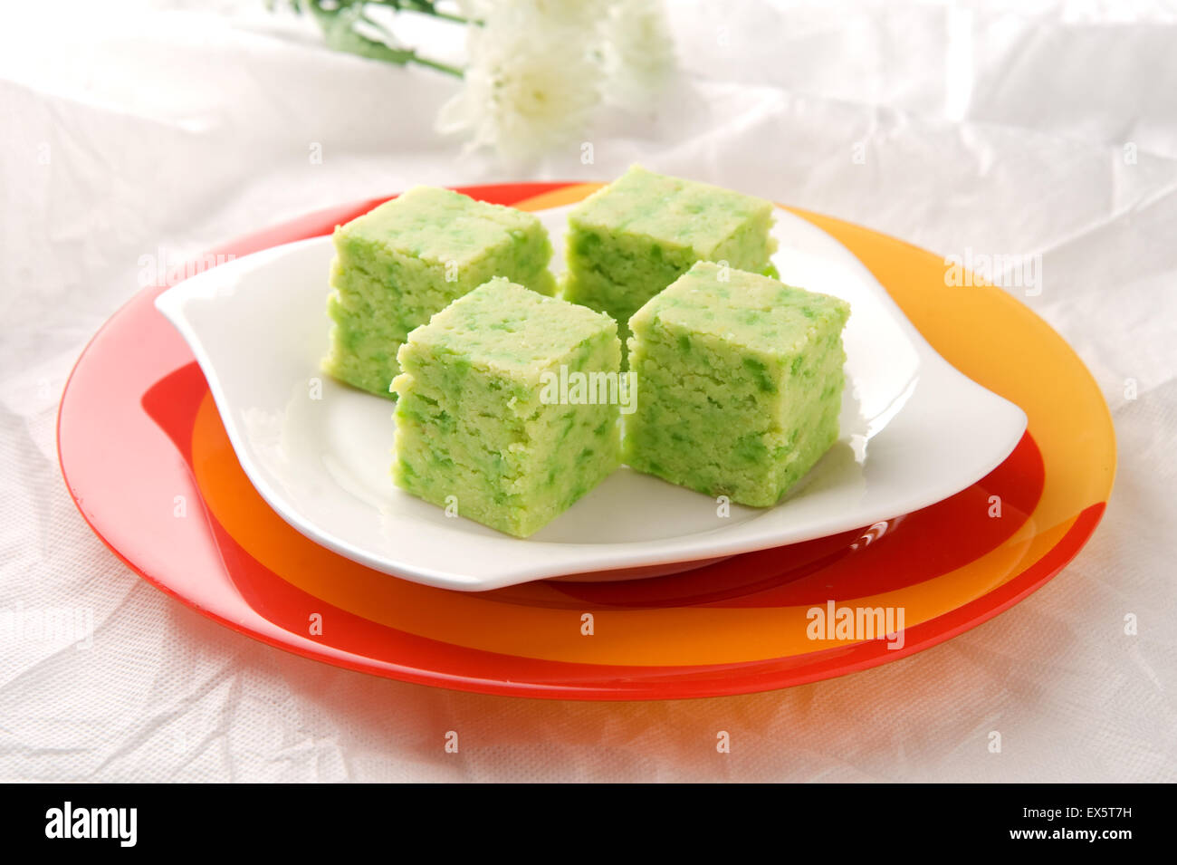 Gourd Halva (Delicious dessert made by condensed milk and gourd vegetable) - Stock Image