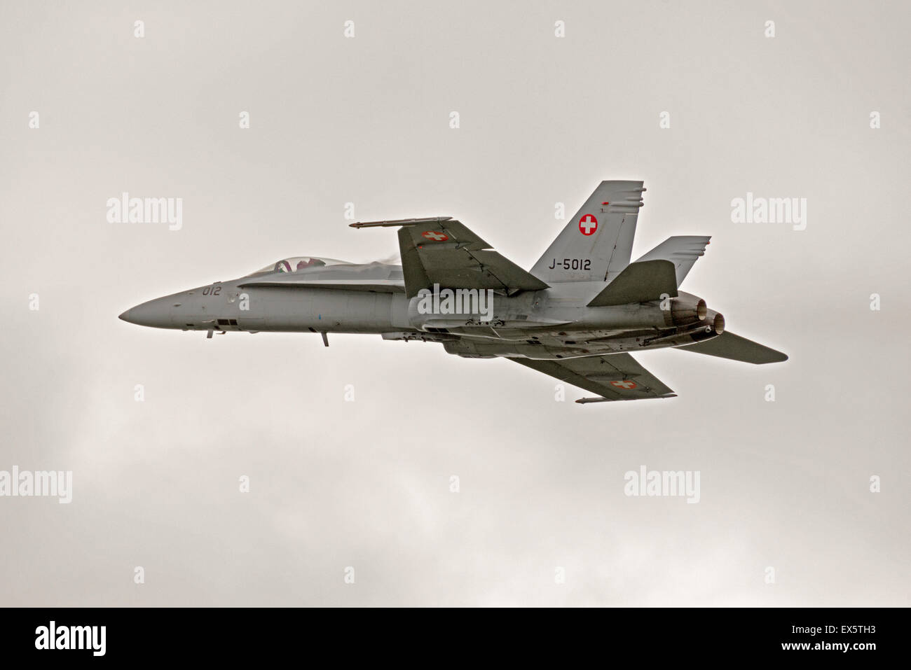 McDonnell Douglas F/A-18C Hornet J-5012 Switzerland Raf Cosford Air Show England Uk - Stock Image