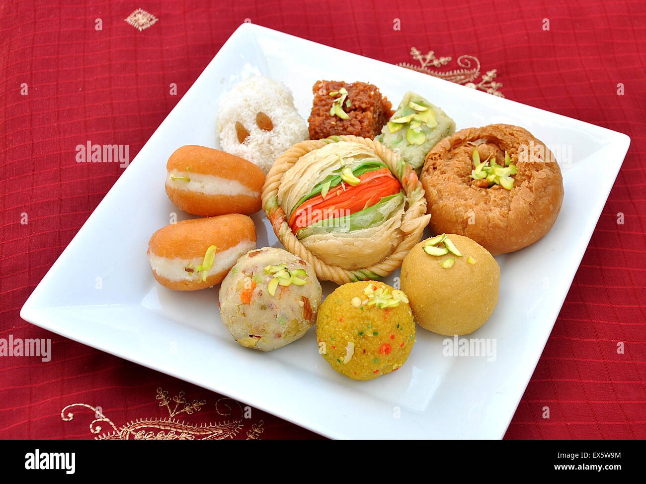 Mix Mithai - Stock Image