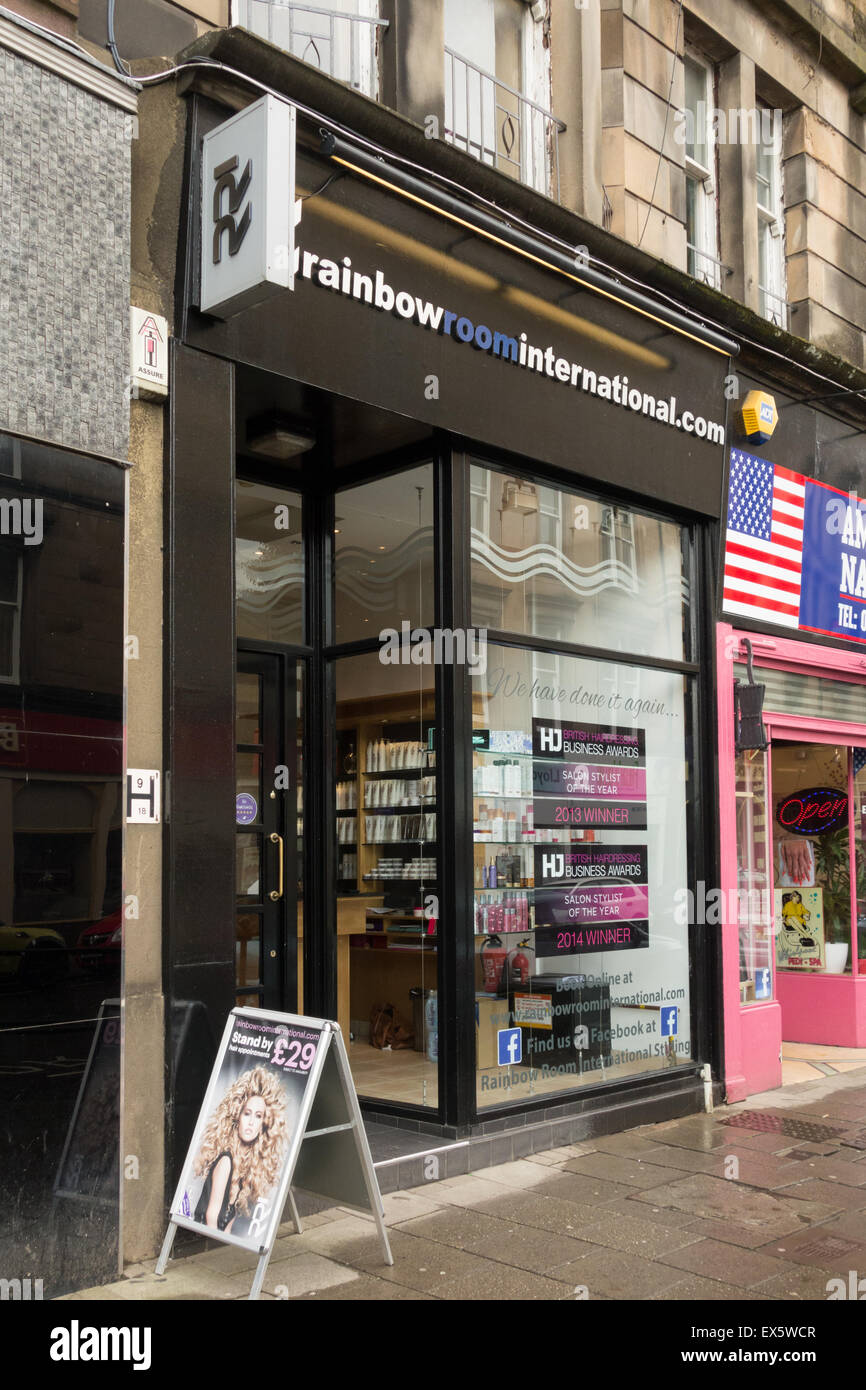 Rainbow Room International hairdressing salon in Stirling, Scotland, UK - Stock Image