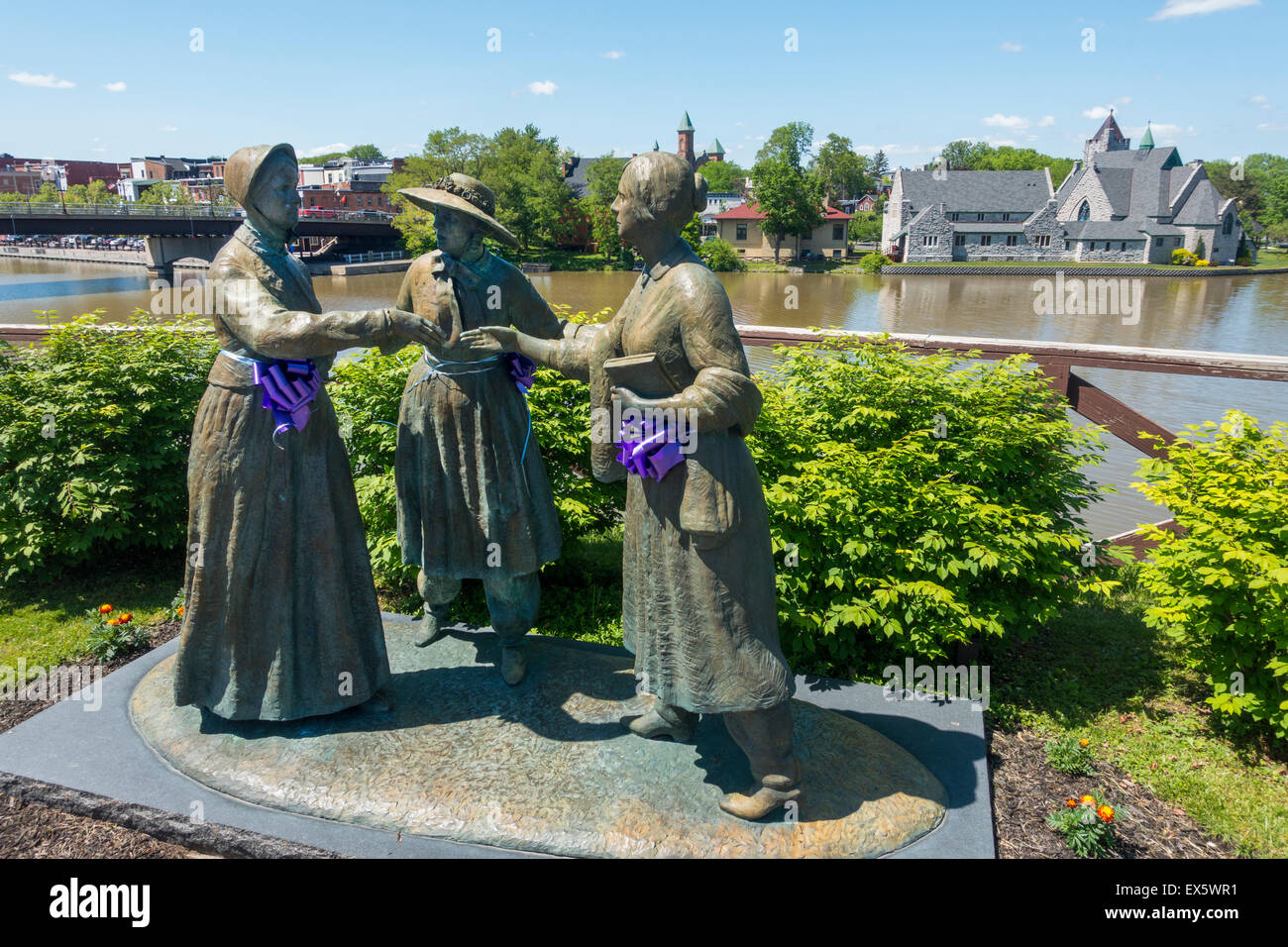 Anthony Stanton Bloomer statue in Seneca Falls NY - Stock Image