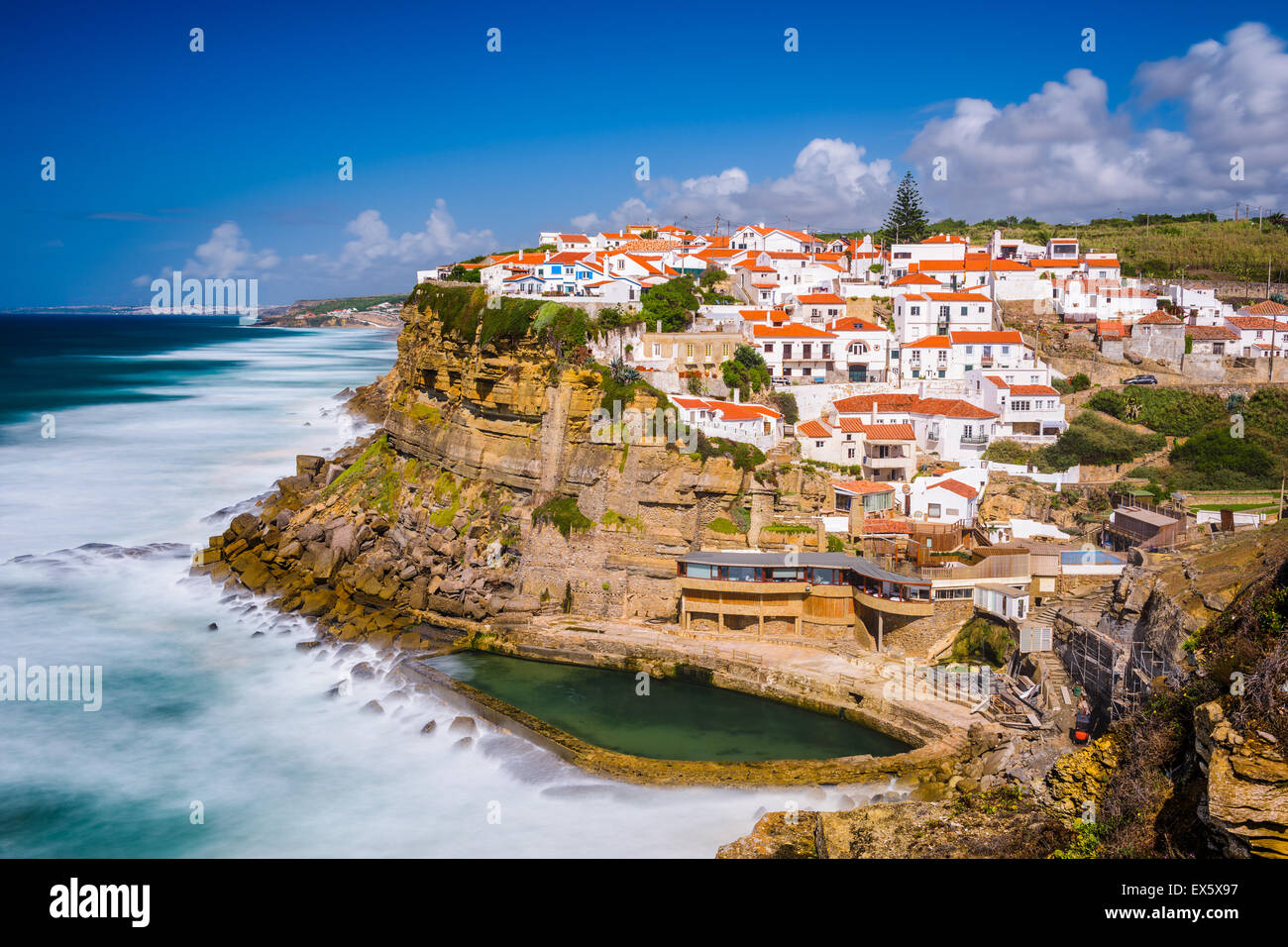 Azenhas do Mar, Portugal seaside town. - Stock Image