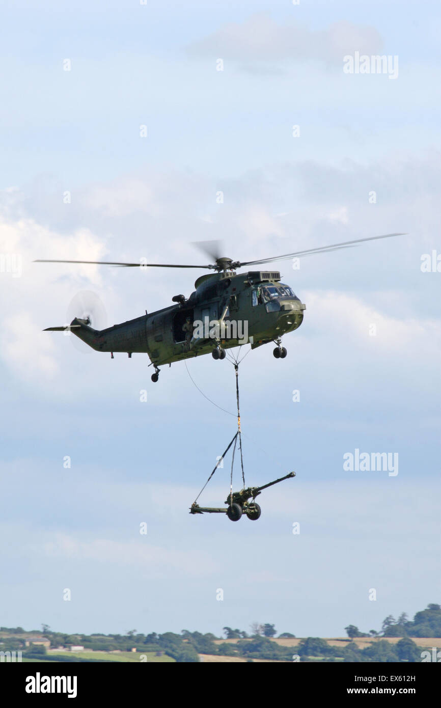 Westland Sea King HAS Mk 6C of the Commando Helicopter Force Based at RNAS Yovilton the aircraft where operated - Stock Image